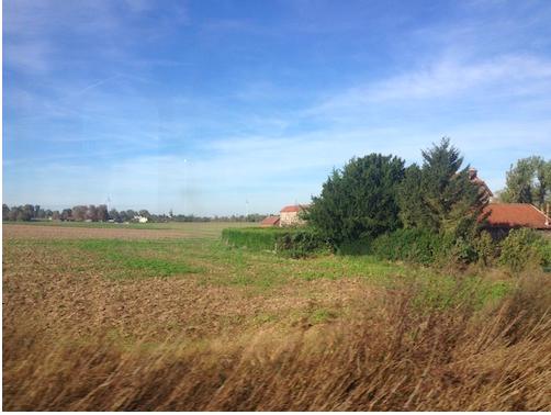 フランス電車からの車窓